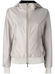 Herno Reversible Hooded Jacket Women Polyamide Polyester Spandex Elastane 42 Nude Neutrals