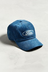 Urban Outfitters Ford Corduroy Baseball Hat Blue