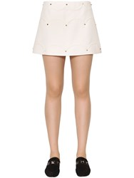 Valentino Embellished Wool And Silk Crepe Mini Skirt