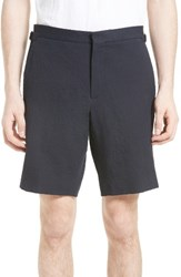 Burberry Men's Big And Tall Dolan Flat Front Shorts Navy