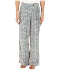 Bobeau Elin Palazzo Pants Blue Snake Women's Casual Pants