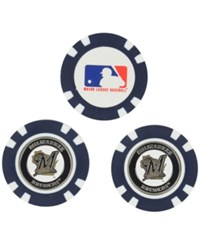Team Golf Milwaukee Brewers 3 Pack Poker Chip Markers Royalblue