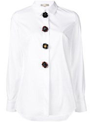 Mantu Floral Button Shirt White