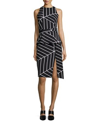 Keepsake Distance Sleeveless Geometric Print Dress Cube Geo Print