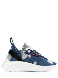 Dsquared 50Mm Speedster Knit Pull On Sneakers Blue