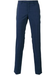 Incotex Checked Slim Fit Tailored Trousers Men Wool 52 Blue