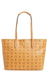 Mcm Medium Anya Tote Brown Cognac
