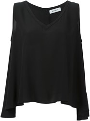 Mauro Grifoni Loose Fit Tank Top Black