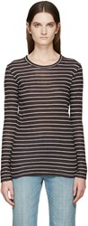 Etoile Isabel Marant Black And White Striped Karon T Shirt