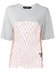 Filles A Papa Mesh Panel T Shirt Grey