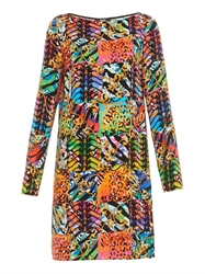 Versus Patchwork Print Safety Pin Dress