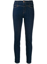 Closed High Waisted Skinny Jeans Blue