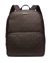 Printed Faux Leather Backpack Brown Michael Kors