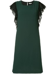 Guild Prime Leopard Print Sleeve Dress Green