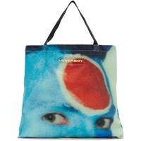 Charles Jeffrey Loverboy Blue And Red Face Tote