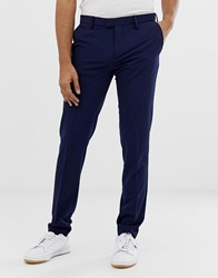 United Colors Of Benetton Slim Fit Trousers With Stretch In Royal Blue