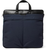Paul Smith Leather Trimmed Canvas Tote Bag Blue