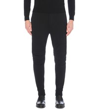 Ralph Lauren Black Label Motocross Cotton Jersey Jogging Bottoms Polo Black