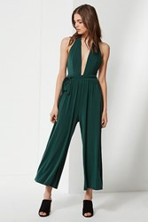 Urban Outfitters Uo Daria Plunging Tie Jumpsuit Green
