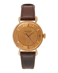 Goodman's Vintage Watches Jaeger Lecoultre 18K Rose Gold Round Dress Watch C. 1950S