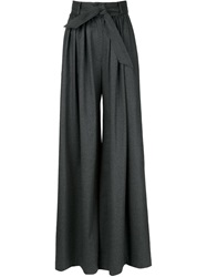 Martin Grant Belted Wide Leg Trousers Grey