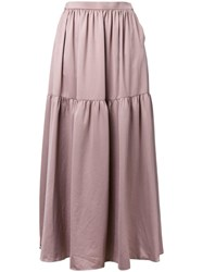 Cityshop Long Gathered Skirt Brown