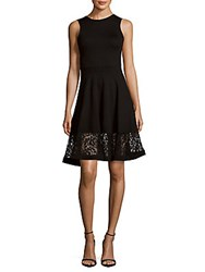 French Connection Sleeveless Lace Dress Black