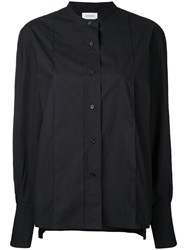 Christophe Lemaire Collarless Shirt Black