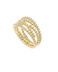 Lagos 18K Gold Covet Caviar Beaded Multi Row Band Ring