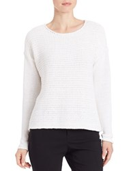 Lord And Taylor Loose Knit Sweater White