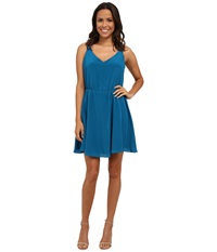 Amanda Uprichard Lily Dress Deep Teal Women's Dress Green