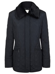 Windsmoor Argyle Quilted Coat Navy