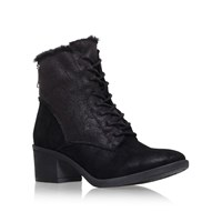 Miss Kg Taite Mid Heel Lace Up Boots Black