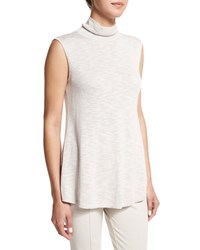 Nic Zoe Everyday Sleeveless Turtleneck Petite Silvercloud Mix