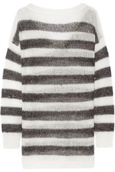 Karl Lagerfeld Striped Knitted Sweater Black