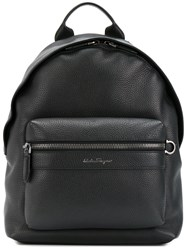 Salvatore Ferragamo Leather Backpack Black