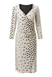 James Lakeland Rose Print Dress Grey Marl