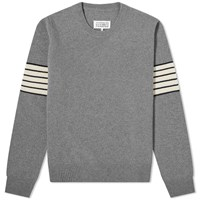Maison Martin Margiela 14 Arm Stripe Crew Knit Grey
