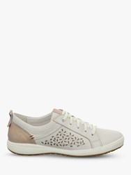 Josef Seibel Caren 06 Low Top Cut Out Flatform Trainers White Leather