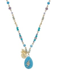 Lonna And Lilly Wishing Star Pendant Necklace Blue Green