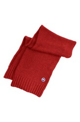Canada Goose Women's Knit Merino Wool Scarf Red