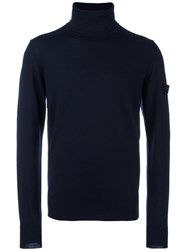 Oamc Turtle Neck Jumper Blue
