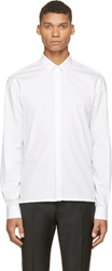 Kris Van Assche White Classic Roll Up Shirt