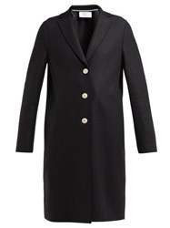 Harris Wharf London Single Breasted Wool Coat Black