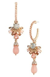 Marchesa Women's Sheer Bliss Hoop Drop Earrings