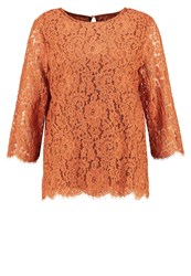 Soaked In Luxury Lulla Blouse Mocha Bisque Copper