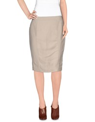 Ice Iceberg Skirts Knee Length Skirts Women Ivory