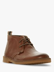 Bertie Castle Leather Desert Boots Tan