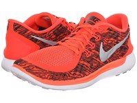 Nike Free 5.0 Print Bright Crimson White Black Men's Running Shoes Orange
