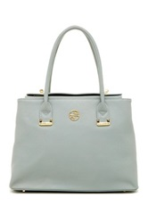 Segolene En Cuir Abella Leather Handbag Gray